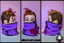 Hoodiegan crochet scarves