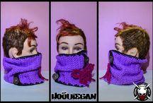 Hoodiegan crochet scarves