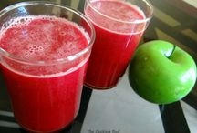Apple-Beet-Carrot juice / This juice has such a fantastic combination that its impossible to describe its advantages. It has in-numerous health and beauty benefits and helps you cope with a lot of diseases and illness.