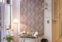 Wandgestaltung/ Raumgestaltung mit Tapete und NMC Profilen