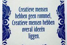Be creative! / Creatieve explosies of creatieve ideeën!