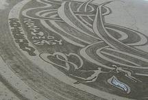 Beach sand designs