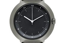 Normal Timepieces - Fuji - F43-03 / This model has a gunmetal grey case, black dial, and white hands. Any one of the four available bands work with this watch well.