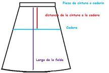 costura molde falda