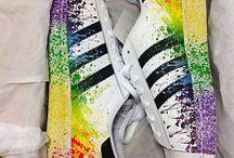 Buty tęczowe
