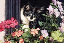 Suellen Ross - cats - art