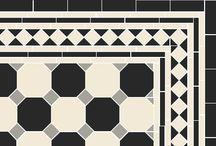 Victorian Floor Tiles - Octagon-based patterns / Victorian Floor Tile Patterns based on the octagon tile.