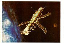 Art Postcards - Space -Cosmic - Rocket