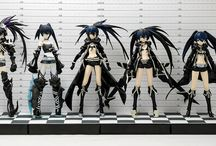 Figmas of BRS and characters / All characters of black rock shooter and her friends DON'T put any other anime characters that doesn't belong in black rock shooter and her friends