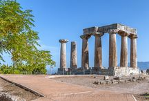 Ancient Corinth, Temple of Apollo  Hellas
