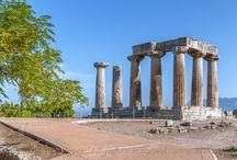 Ancient Corinth, Temple of Apollo  Hellas