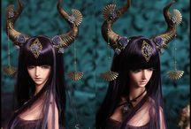 bjd fantasy styl / Bjd Soom little Gem Cave elve Fantasy Version. new  mold modeling an her parts, Face and body make up by me.