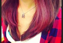 #hair #cool  / The inside is red The outside is Ashe