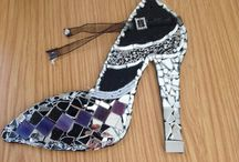Mosaic Shoe / My first attempt at mosaic.