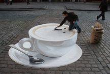 Talented sidewalk artist