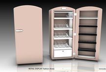 Retail Fixture - Too Hot Designer Shoes / Old fridge retail fixture; Too Hot Designer shoes need to be showcased in cooled down environment! / by kimmodesign