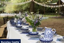 BC|| outdoor wedding / Bunzlau Castle|| Outdoor wedding Bunzlau Castle® tableware is made by hand. Each ceramic form passes through at least fifteen pairs of hands! #Handmade #quality #polishpottery #madeineurope #love #bunzlaucastle #home #kitchen #tabletop #ceramics #blue #flowers #wedding #outdoor #outdoorwedding #love