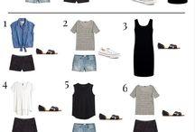 комбинирование одежды для путешествий