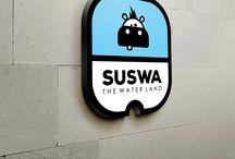 Suswa Water Land Logo Presentation