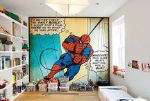chambre garcon spider man
