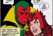Comic art 33=Vision and Scarlet Witch (Wanda Maximoff)-Jocasta