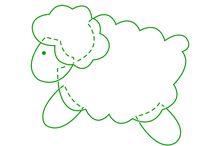 ovelha feltro