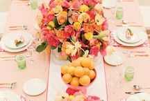 Summer Table Decor / Table decor inspired by and perfect for the warm summer months