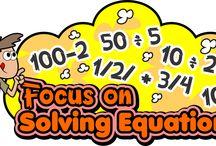 Solving Equations / Solving Equations! Solving Equations! Solving Equations! https://www.teacherspayteachers.com/Store/Mathfilefoldergames/Category/Solving-Equations-Games