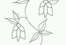 šablona květin