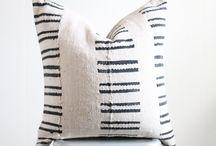 {Design - Textile Pillows} / textiles