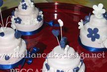Mini wedding cake torta paradiso con marmellata all'albicocca