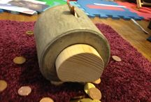 Piggy bank / HandMade by cement