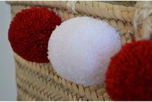 Paniers à pompons / Venez découvrir la sélection de panier à pompons fait main sur www.boutiqueboheme.fr