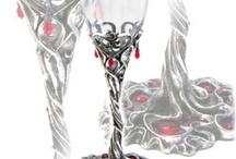 Drinkware / Pewter and Crystal Drinkware - goblets, shot glasses, tankards, flasks, cups. / by Rivithead