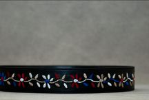 leather belts / handmade embroidered leather belts inspired by Greek culture