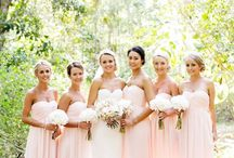 Beautiful Bridesmaids / Here come the girls! Walking down the aisle with your bevvy of beauties leading the way is such a special moment and a chance to celebrate friendship and family - as well as marriage! Make sure everyone feels comfortable and glamorous, and take advantage of everyone's unique look to add interest to your dresses. We love mixing and matching colours and styles!