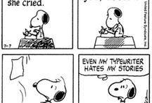 Snoopy writes... / I love all those old Snoopy comics where he's a writer