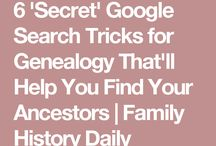 Search tips for Genealogy