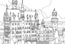 Fantastic Structures / coloring book #2
