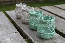 Lanterns glass crochet
