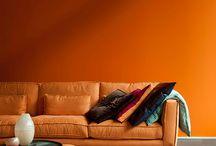 Oranje - Kleur en interieur
