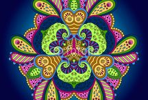 Colorful mandalas by Key-Kitty / Bright and colorful mandalas for meditation and relaxation.