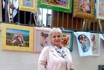 Ribbon embroidery by Tetiana Korobeinyk