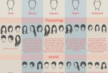 Face shapes and Hair