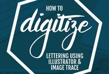 Tech | Photoshop + Illustrator / Tips, tricks and tutorials for Adobe Suite programs, especially Photoshop and Illustrator for digitising watercolour, lettering and calligraphy
