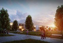 Wizualizacje osiedla Jaśminowa / Kilka wizualizacji architektonicznych osiedla Jaśminowa powstającego w Warszawie