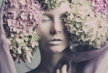 flower hair / dress