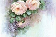 Sonie Ames / Цветочные мотивы росписи по фарфору