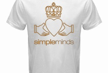 SIMPLEMINDS Band White/ Black/ Navy Blue/ Red T-shirt