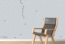 SweetLittleDots by Silvia Betancourt... / Hand painted Wallpaper, home decoration, beautiful walls.   www.SweetLittleDots.com